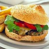 Cheeseburger with Fries - weightwatchers 12points