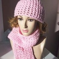 Matching Hat and Scarf free crochet pattern