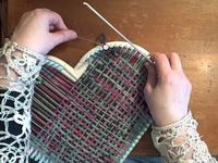 Loom Knit - How to weave a heart on the Martha Stewart Loom by Noreen Crone-Findlay