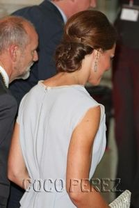 Kate's updo at an Olympic-related event