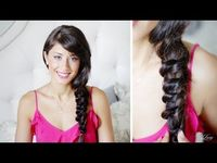 Knotted Messy Side Braid by Luxyhair!
