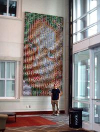 made of soda cans!, emory university