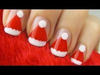 Easy Santa Claus nails #tutorial