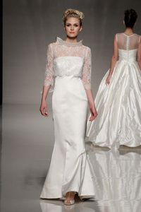 Blue Bridalwear Spring 2013 high neck and lace wedding dress