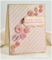 Cute idea for a baby card (and uses buttons!)