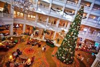 The atrium of the Grand Floridian decorated for Christmas. This is a magical place. You've got to see it sometime.