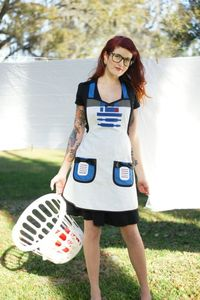 Cooking apron costume by HauteMessThreads on Etsy,