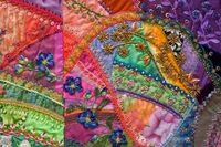 I � crazy quilting . . . Allie's In Stitches- Crazy for Flowers