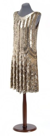 Art Deco Sequined Dress - 1920's