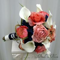 coral and navy wedding - Google Search