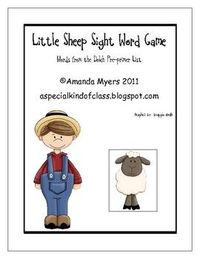 Children practice their sight words while playing this fun farm game. Students must try and find the sheep hidden under a barn. To be able to look ...