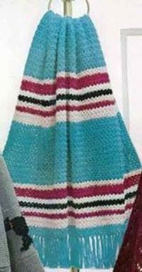 Roman Stripe Afghan | Free Crochet Patterns