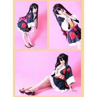 K-ON! Nakano Azusa Black Straight Long Cosplay Wig