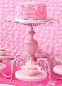 Love this idea! Old Chandelier turned cake plate by teri