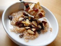 """Indian spiced"" oats w/ coconut milk"