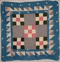 DQ110 Nine-patch/Double Nine-Patch Doll Quilt with Triple Border