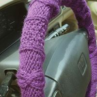 knit steering wheel cover