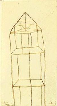 Louise Bourgeois - Glass Houses, No Secrets, red ink and pencil on paper