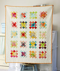 Granny Square quilt...I'm working on one like this using a different color scheme.