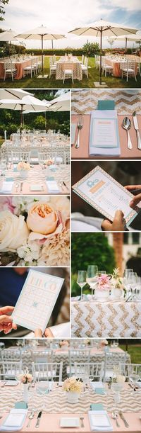 Peach and Mint Baby Shower ~ transform into wedding