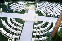 circular outdoor wedding seating