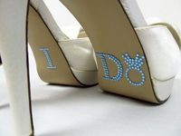 DIY Shoe Appliques: I DO: Something Blue