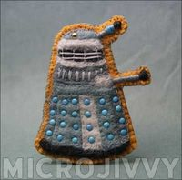 Dalek Felt Badge (with pattern!)