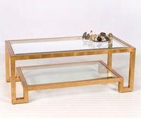 Winston Coffee Table - Gold Leaf