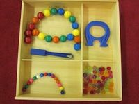 Magnet Trays and Scale Weighing from Inspired Montessori and Arts at Dundee Montessori