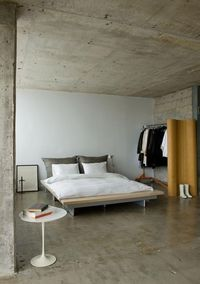 concrete ceiling.