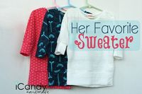 icandy handmade: (tutorial and pattern) Her Favorite Sweater