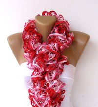 Ruffled Scarf, women knitted scarf, scarves ,multicolor ,2013 NEW TREND SCARF,accessories, gifts for her, fashion, long scarf
