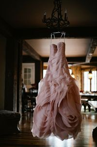 pale pink wedding dress, why not?