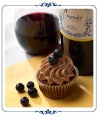 Chocolate Blueberry Cupcakes Paired Perfectly with Cupcake Vineyards Malbec