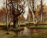 Julius Sergius von Klever - Birch Forest [1883], a photo by Gandalf's Gallery on Flickr.
