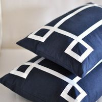 Caitlin Wilson Textiles: Navy Signature Pillow
