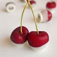 White Chocolate Dipped Cherries...elegant and simple sweets for entertaining