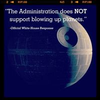 Sorry Vader, White House Won't Build a Death Star