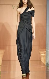Vionnet Georgette Jersey Asymmetric Drape Gown SS2013