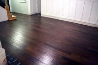 dark stain. for kitchen living room