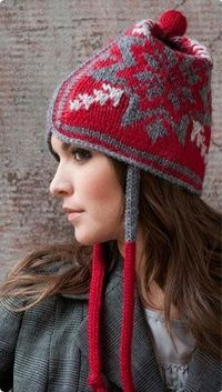 """Snowflake Spendor Hat - knit a matching scarf from the book """"Knitting Block by Block"""" by Nicky Epstien"""