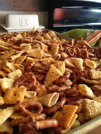 A lil spicy chex mix! I've had this stuff before & it is awesome