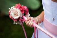 Love the flower wand for little girls. #PerfectWedding