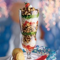 "New Year's Lucky Black Eyed Pea ""Parfaits"""