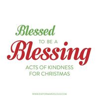 Ideas for 25 random acts of kindness at Christmas or any other time!