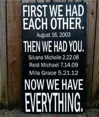 "First We Had Each Other... subway style hand painted wood sign - 12""x20"""